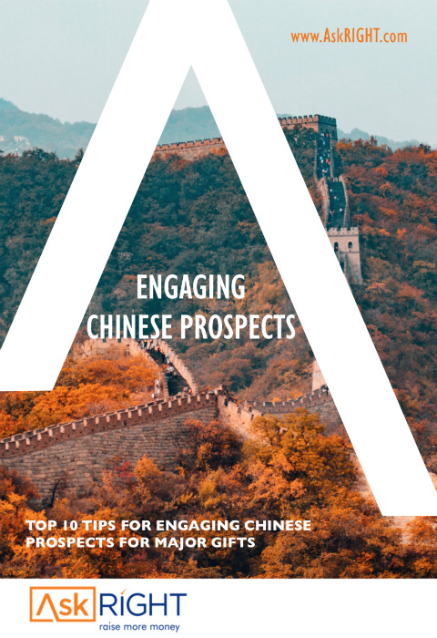 The principles for building relationships with Chinese prospects are no different to building relationships with non-Chinese prospects. However, there is no one-size-fits-all cultivation strategy.The practice for a successful fundraiser is to tailor your engagement to suit your donors.